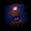 Colorful different colors fireworks close up, dark sky background, Malta fireworks festival, 4 of July, Independence day — Stock Photo #61428563