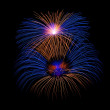 Colorful different colors fireworks close up, dark sky background, Malta fireworks festival, 4 of July, Independence day — Stock Photo #61428587