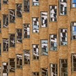 Urban creative,Modern architecture fragment. Modern windows, windows reflection abstract view, windows fragment detail close up. Exterior. Interior. Architectural detail. Building in Sydney.Reflection — Stock Photo #65355117