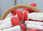 Homemade mushrooms cookies in the handicraft mart — Stock Photo
