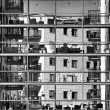 Abstract architectural exterior photo in Black and white, contemporary exterior, modern apartment scene, architecture, architectural details, exterior fragment, urban fragment photo, conceptual photo — Stock Photo #70193705