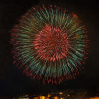 Colorful fireworks explode in Malta in dark sky,Malta fireworks festival, 4 July, Independence day, fireworks explode, New Year, fireworks in Valletta isolated in dark background with place for text — Stock Photo #75885251