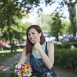 Female Is Going From Market Place — Stock Photo #74132497
