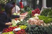 Female At Market Place — Stock Photo