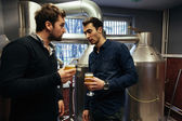 Two Male In Brewery — Stock Photo