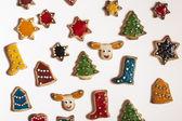 Christmas handmade cookies on white background — Стоковое фото