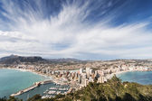 View of touristic town, Calpe, Spain — Stock Photo