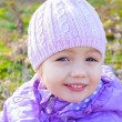 Little girl beautiful close up portrait outdoor — Stock Photo #57546033