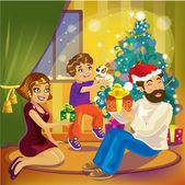 家庭圣诞 — 图库矢量图片