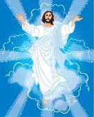 Jesus Resurrected — Stock Vector