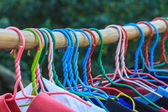 Shirts hanging on clothes line — Zdjęcie stockowe