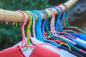 Shirts hanging on clothes line — Stock Photo