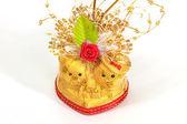 Wedding souvenir o o giorno di San Valentino. — Foto Stock