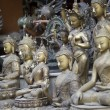 Statues of Buddha at the market in Kathmandu, Nepal — Stock Photo #71662697
