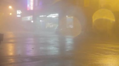 Heavy rain and strong wind during a typhoon — Stock Video