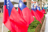 Taiwanese flags blowing in the wind — Stock Photo