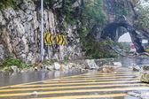 Rocks fallen from typhoon — Stock Photo