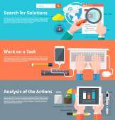 Search for solutions infographic — Stok Vektör
