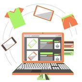 Internet shopping concept — Stock Vector