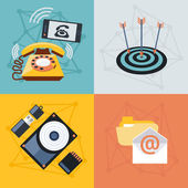 Set icons for web and mobile applications — Stock Vector