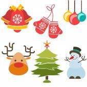 Christmas and New Year icons — Stock Vector
