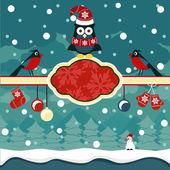 Christmas horizontal banners background — Stock Vector