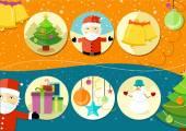 Ikony bożego narodzenia i nowy rok — Wektor stockowy