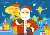 Happy Santa Claus profession series — Stockvector