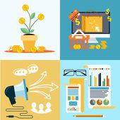 Icons for seo, social media online shopping — Vector de stock