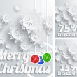 Merry Christmas background discount set — Stock Vector #57826643