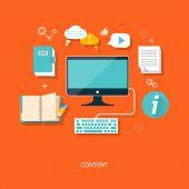 Content concept — Stock Vector