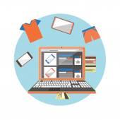 Интернет Шоппинг концепция — Cтоковый вектор