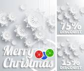 Merry Christmas background discount set — Stock vektor