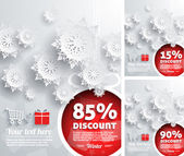 Merry Christmas background with discount percent — Stock vektor