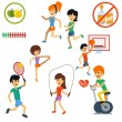 Icon set for active lifestyle — Stock Vector #57893419