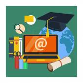 Online education, professional education — Stock Vector
