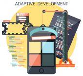 Icons for adaptive development — Stock Vector