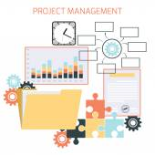 Flat design of project management — Stock Vector