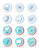 Electronic device icons in cartoon style — Stock Vector