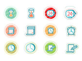 Time and date icons — Stock Vector