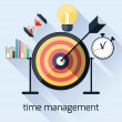 Time management, timing concept in flat design — Stok Vektör #59428545