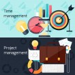 Project and time management flat design concept — Stok Vektör #59430677