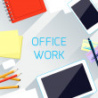 Office work and workplace organization concept — Stock Vector #59430723