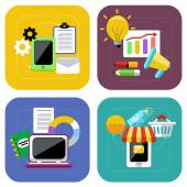 Ecommerce and digital marketing concept icon set — Stock Vector