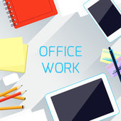 Office work and workplace organization concept — Stock Vector