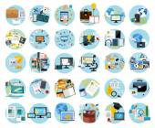 Icons set banners for business — Stock Vector