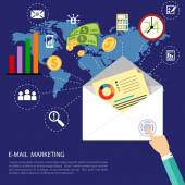 Email marketing concept — Stock Vector