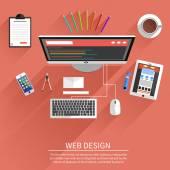 Design de Web. programa para arquitetura e design. — Vetor de Stock