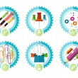 Icons of office tools — Stock Vector #60933125