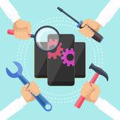 Mobile service concept — Vettoriale Stock